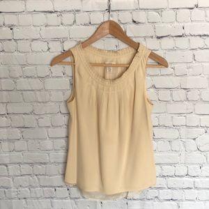 J.Crew silk cream colored sleeveless top size 2